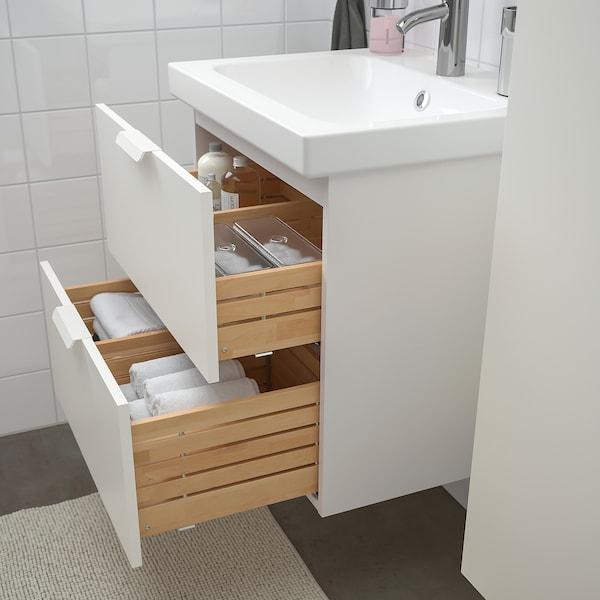 GODMORGON / ODENSVIK móveis casa de banho, conj.5 branco/Dalskär torneira 63 cm 60 cm 49 cm 89 cm
