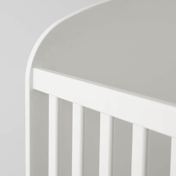 GONATT Berço c/gv, branco, 60x120 cm