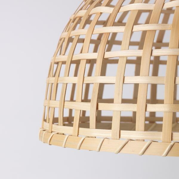 GOTTORP Abajur p/candeeiro suspenso, bambu, 36x25 cm