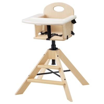 GRÅVAL Cadeira júnior/alta c/tabuleiro, bétula