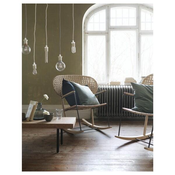 GRÖNADAL Cadeira de baloiço, cinz/cru