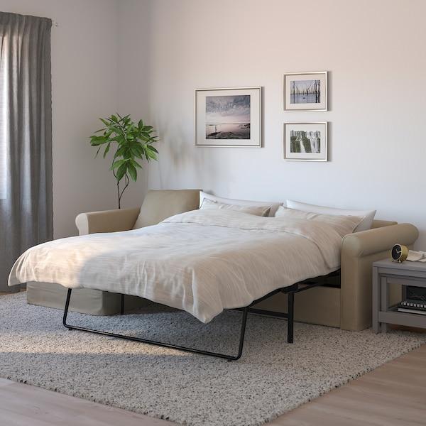 GRÖNLID Sofá-cama 3 lugares - c/chaise longue, Sporda cru ...