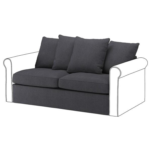 GRÖNLID Capa p/secção sofá-cama 2lug, Sporda cinz esc