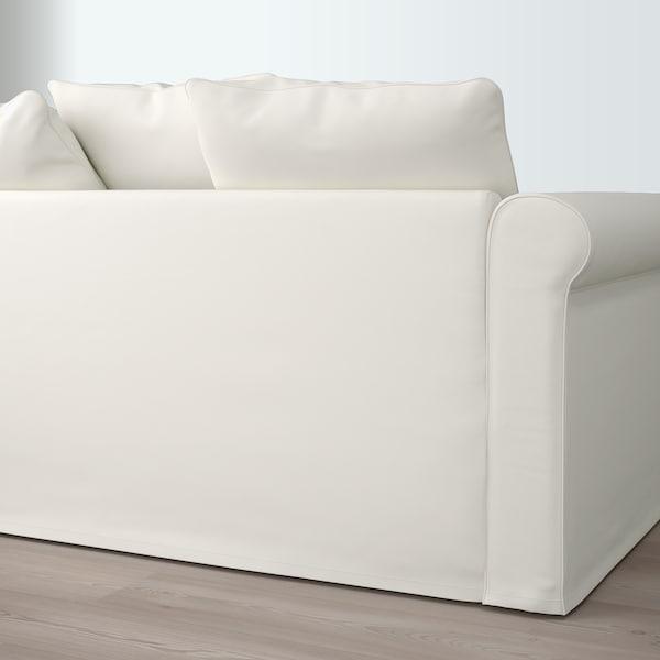 GRÖNLID Sofá de canto, 5 lugares, Inseros branco