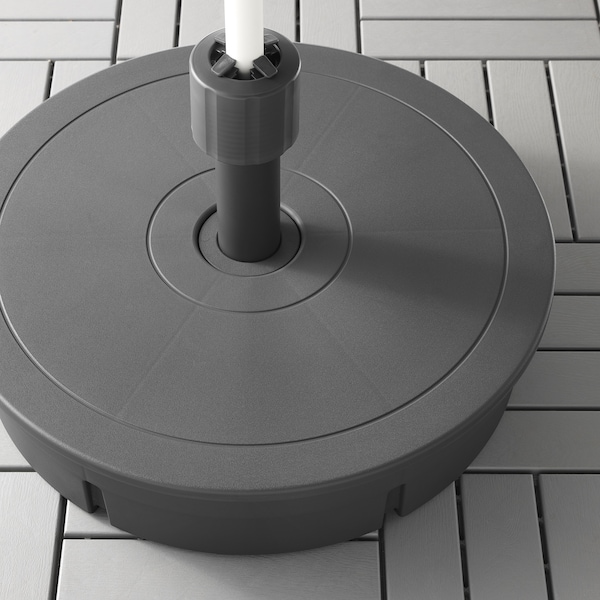 GRYTÖ Base p/guarda-sol, cinz esc, 60 cm