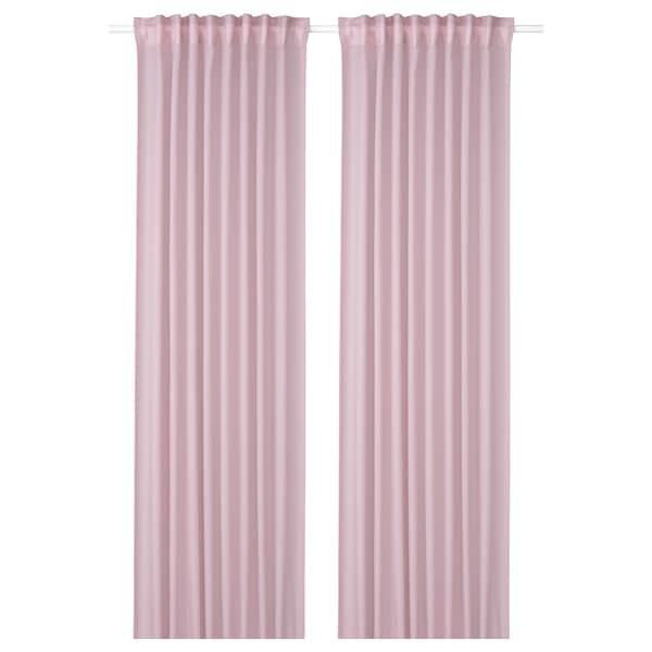 GUNRID Cortinado purificador ar, par, rosa claro, 145x300 cm
