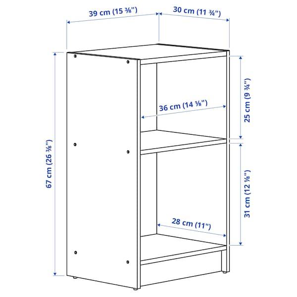 GURSKEN Mesa de cabeceira, bege claro, 39x30 cm