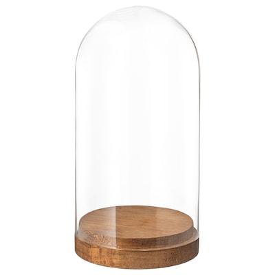 HÄRLIGA Campânula de vidro c/base, vidro transparente, 20 cm