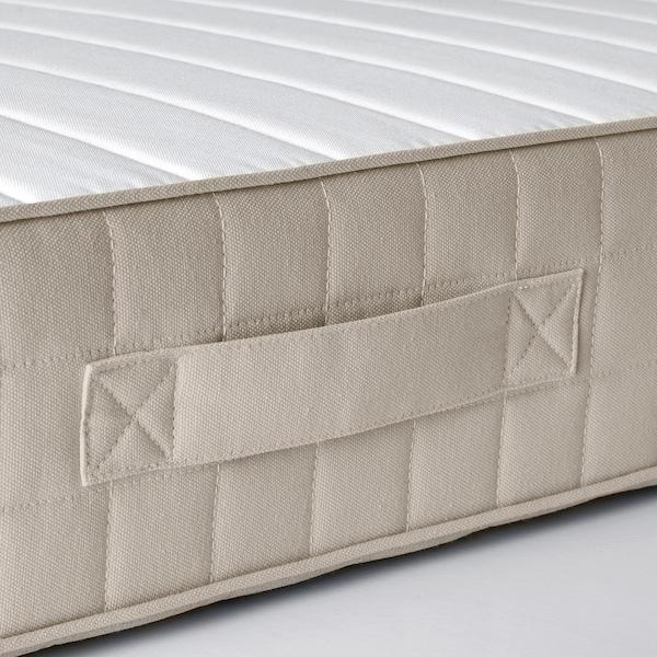 HAFSLO Colchão de molas, firme/bege, 160x200 cm