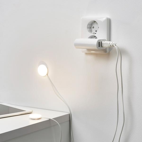 HALVKLART Projetor LED p/armário, branco