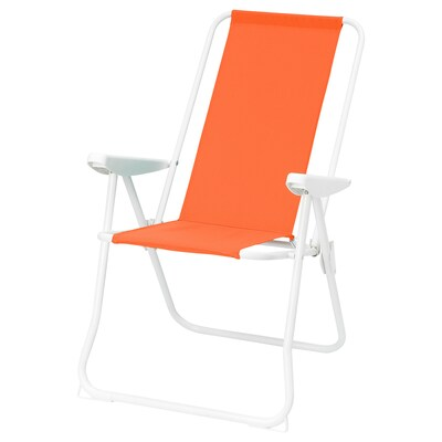HÅMÖ Cadeira c/encosto regulável, laranja