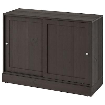 HAVSTA armário c/rodapé castanho escuro 121 cm 47 cm 89 cm 45 kg
