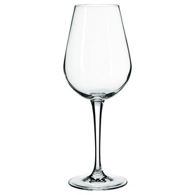 HEDERLIG Copo de vinho branco, vidro transparente, 35 cl