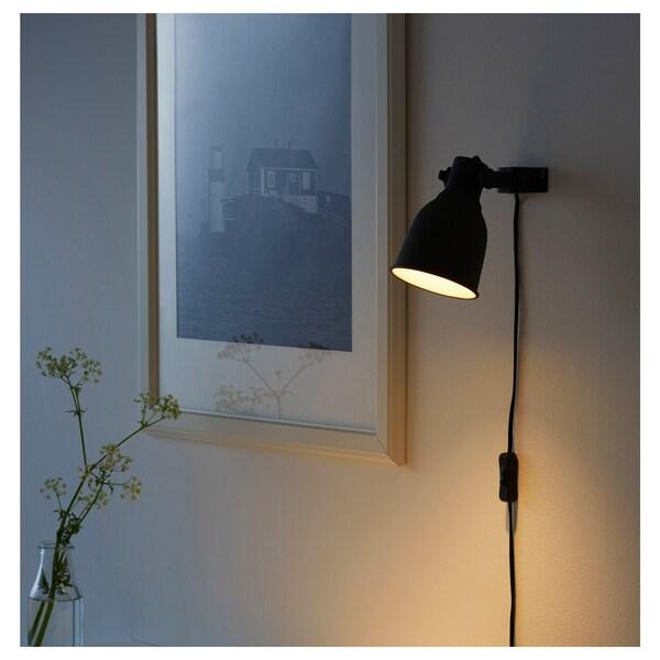 HEKTAR Projetor de parede/mola, cinz esc