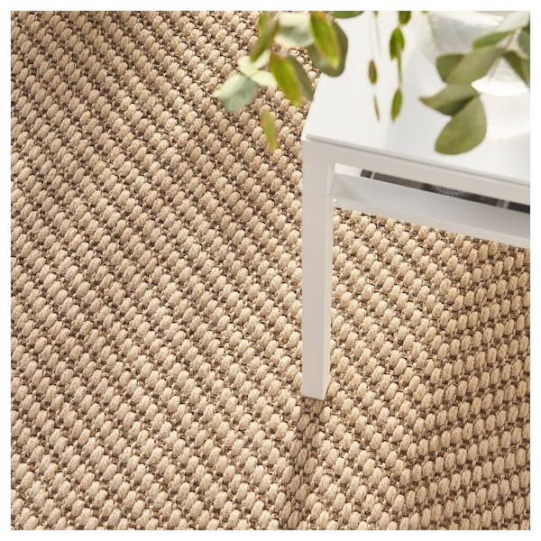 HELLESTED tapete, tecelagem plana cru/castanho 240 cm 170 cm 8 mm 4.08 m² 2570 gr/m²