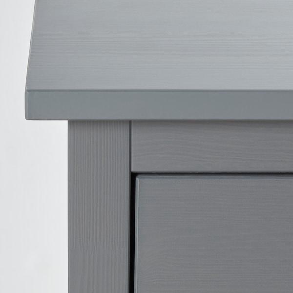 HEMNES Cómoda c/2 gavetas, cinz c/velatura, 54x66 cm