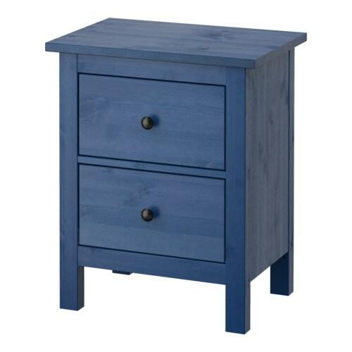 Hemnes c moda c 2 gavetas azul 54x66 cm ikea for Ikea hemnes comoda