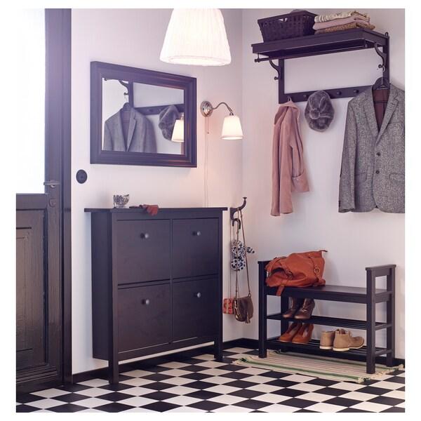 HEMNES Sapateira c/4 compartimentos, pret-cast, 107x101 cm