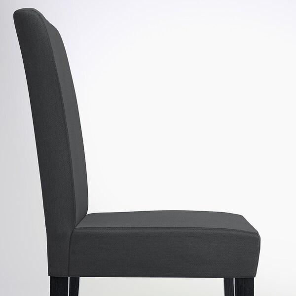 HENRIKSDAL Cadeira, castanho escuro/Dansbo cinz esc