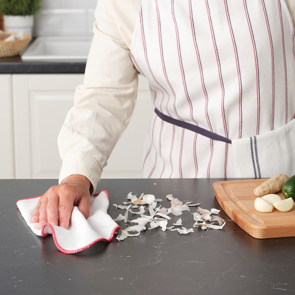 HILDEGUN Pano de cozinha, verm, 25x25 cm