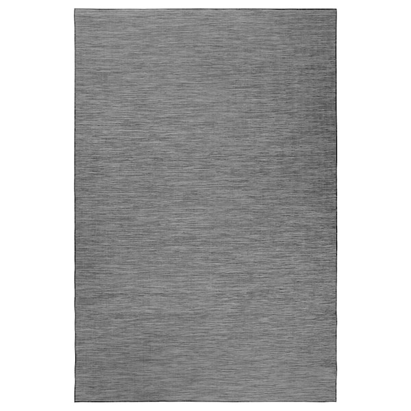 HODDE tapete tecelag plana, int/exterior cinz/preto 300 cm 200 cm 5 mm 6.00 m² 1150 gr/m²