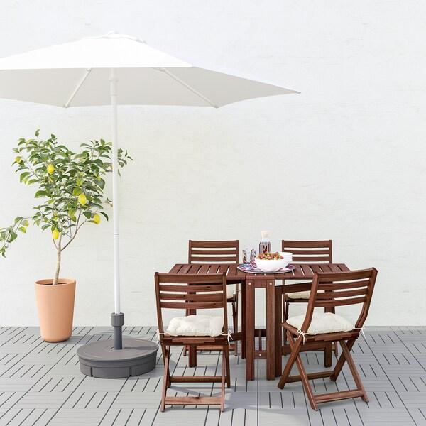 HÖGÖN Guarda-sol, branco, 270 cm