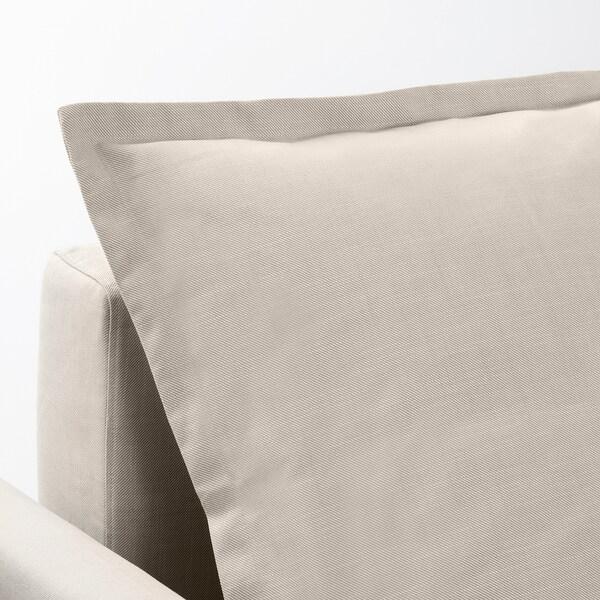 HOLMSUND sofá-cama de canto Nordvalla bege 96 cm 66 cm 151 cm 230 cm 90 cm 120 cm 60 cm 44 cm 140 cm 204 cm