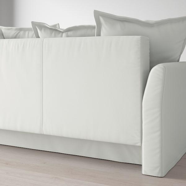 HOLMSUND Sofá-cama de 3 lugares, Orrsta branco acinzentado claro