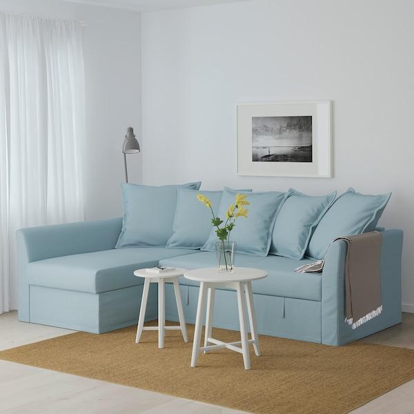 HOLMSUND Sofá-cama de canto, Orrsta azul claro