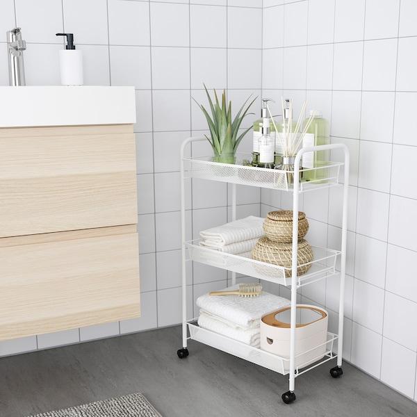 HORNAVAN Carrinho, branco, 26x48x77 cm