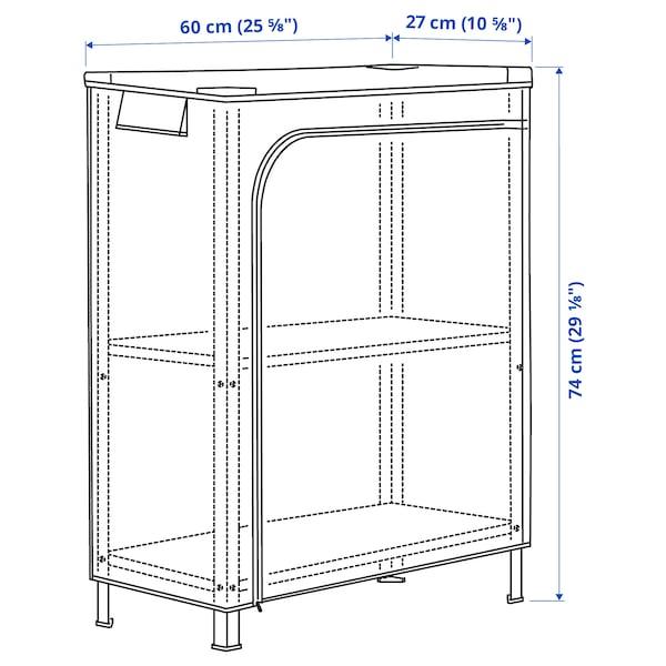 HYLLIS Estante c/capa, transparente, 60x27x74 cm