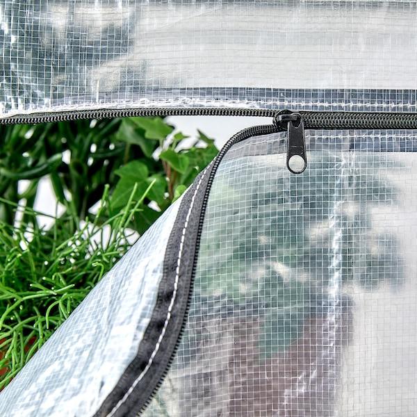 HYLLIS Estantes c/capas, transparente, 180x27x74-140 cm