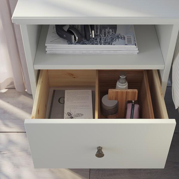 IDANÄS Mesa de cabeceira, branco, 47x40 cm