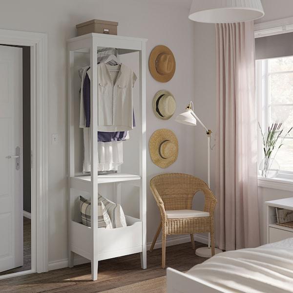 IDANÄS Roupeiro aberto, branco, 59x211 cm