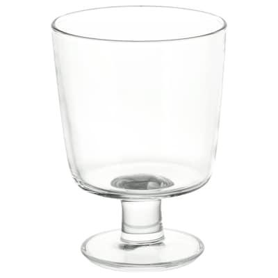 IKEA 365+ copo c/pé vidro transparente 12 cm 30 cl