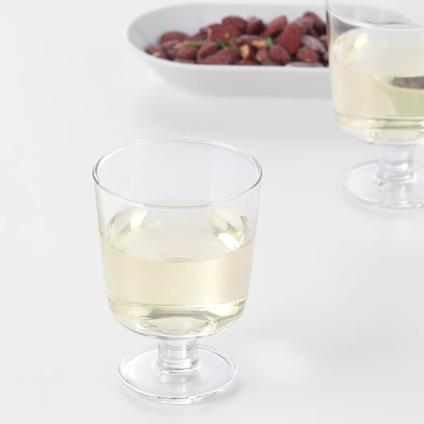 IKEA 365+ Copo c/pé, vidro transparente, 30 cl