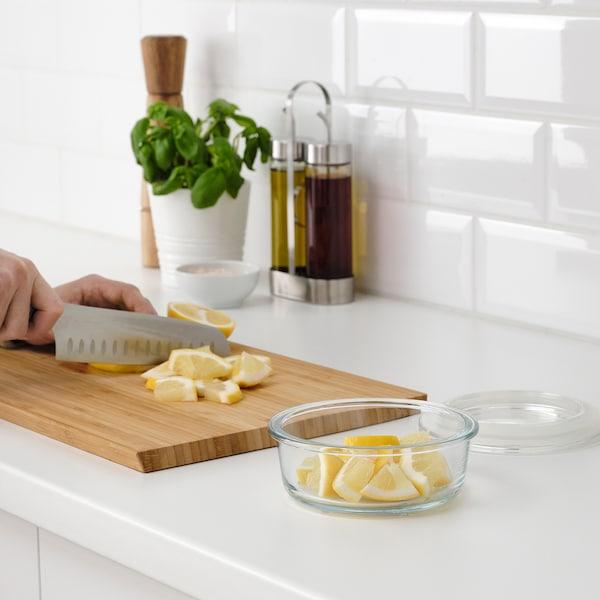 IKEA 365+ Recipiente p/alimentos, redondo/vidro, 400 ml