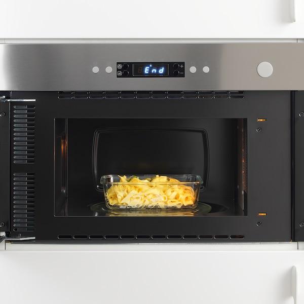 IKEA 365+ Recipiente p/alimentos, retangular/vidro, 1.0 l