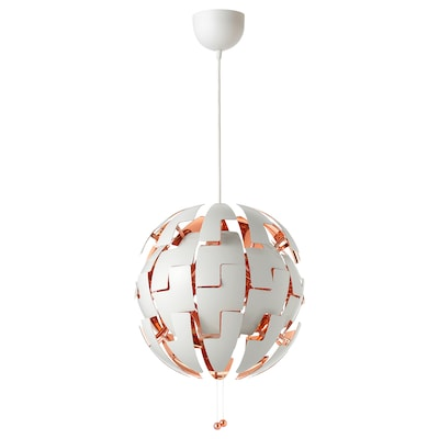 IKEA PS 2014 Candeeiro suspenso, branco/cor de cobre, 35 cm
