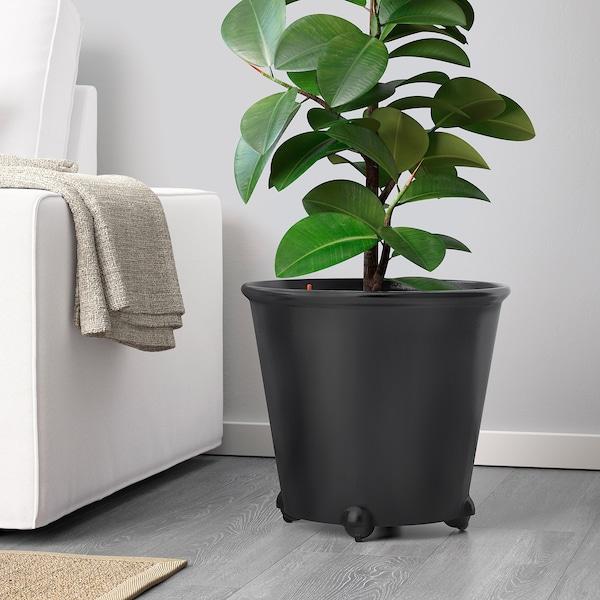 IKEA PS FEJÖ Vaso c/rega automática, preto, 32 cm