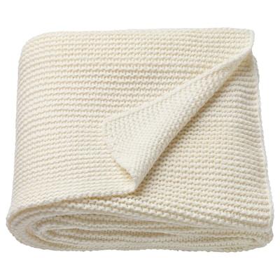 INGABRITTA Manta, branco-bege, 130x170 cm