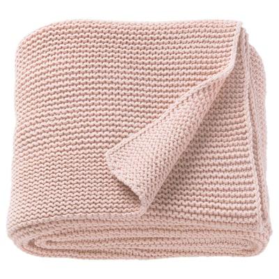 INGABRITTA Manta, rosa pálido, 130x170 cm