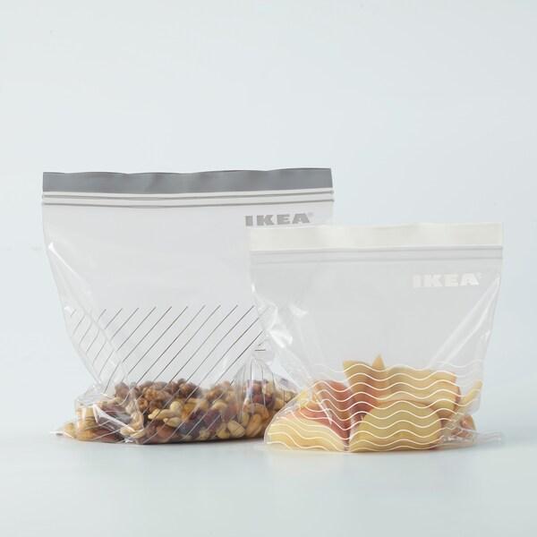 ISTAD Saco reutilizável, cinz/branc