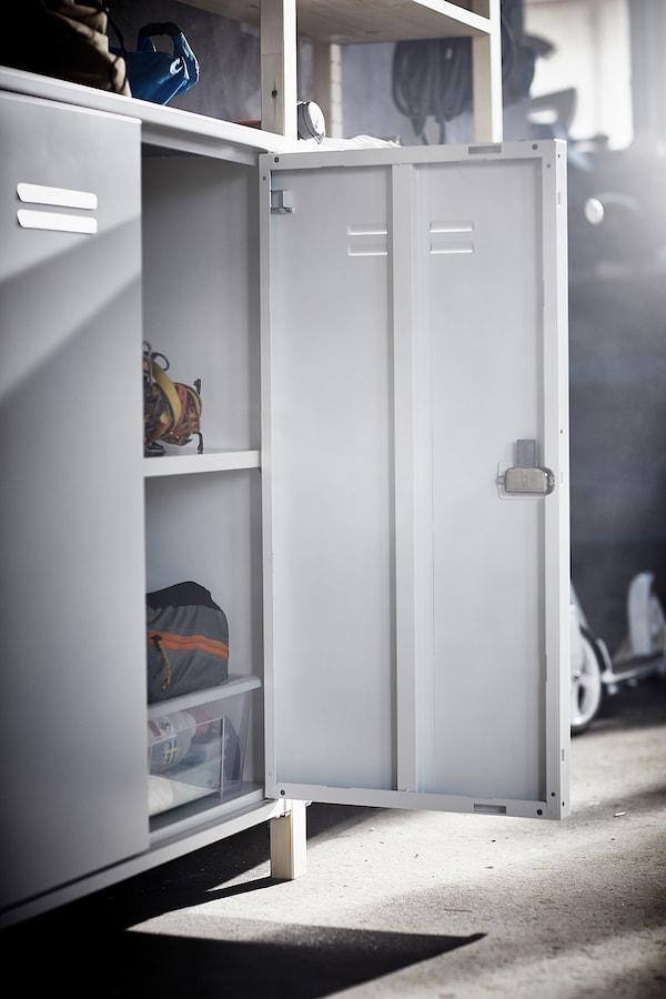 IVAR Armário c/portas, branco, 80x83 cm