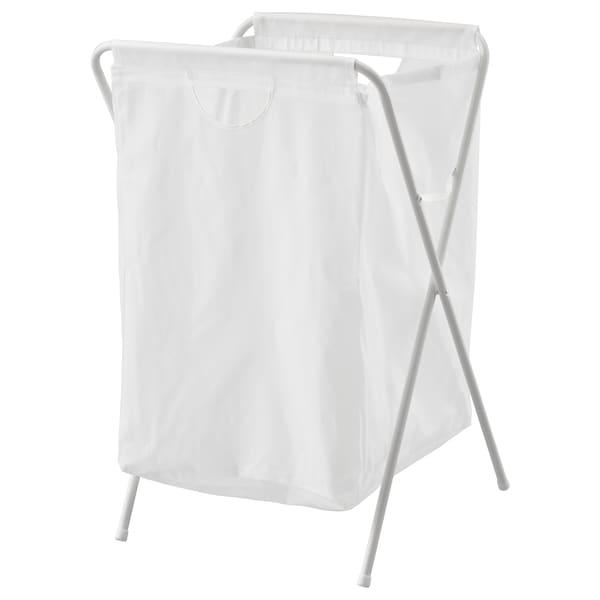 JÄLL Saco p/roupa c/suporte, branco, 70 l