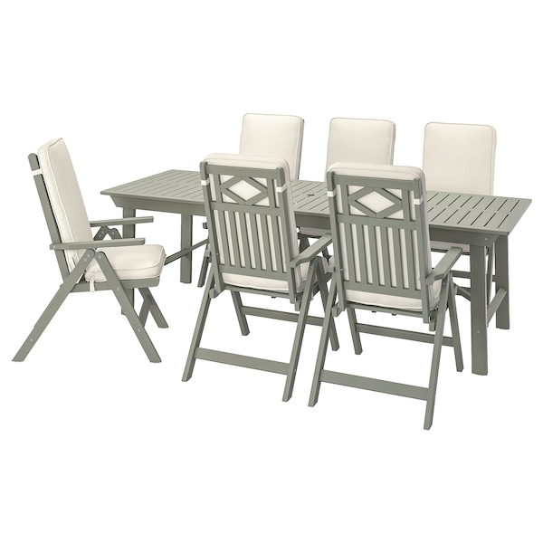 JÄRPÖN/DUVHOLMEN Almofada assento/encosto, exterior, branco, 116x45 cm