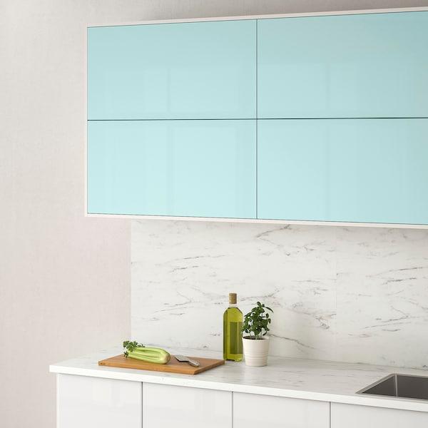 JÄRSTA Porta, brilh turquesa claro, 40x40 cm