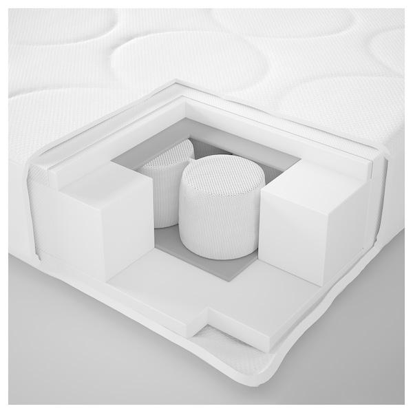 JÄTTETRÖTT Colchão molas ensacadas p/berço, branco, 60x120x11 cm