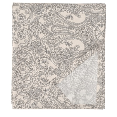 JÄTTEVALLMO Lençol, bege/cinz esc, 240x260 cm