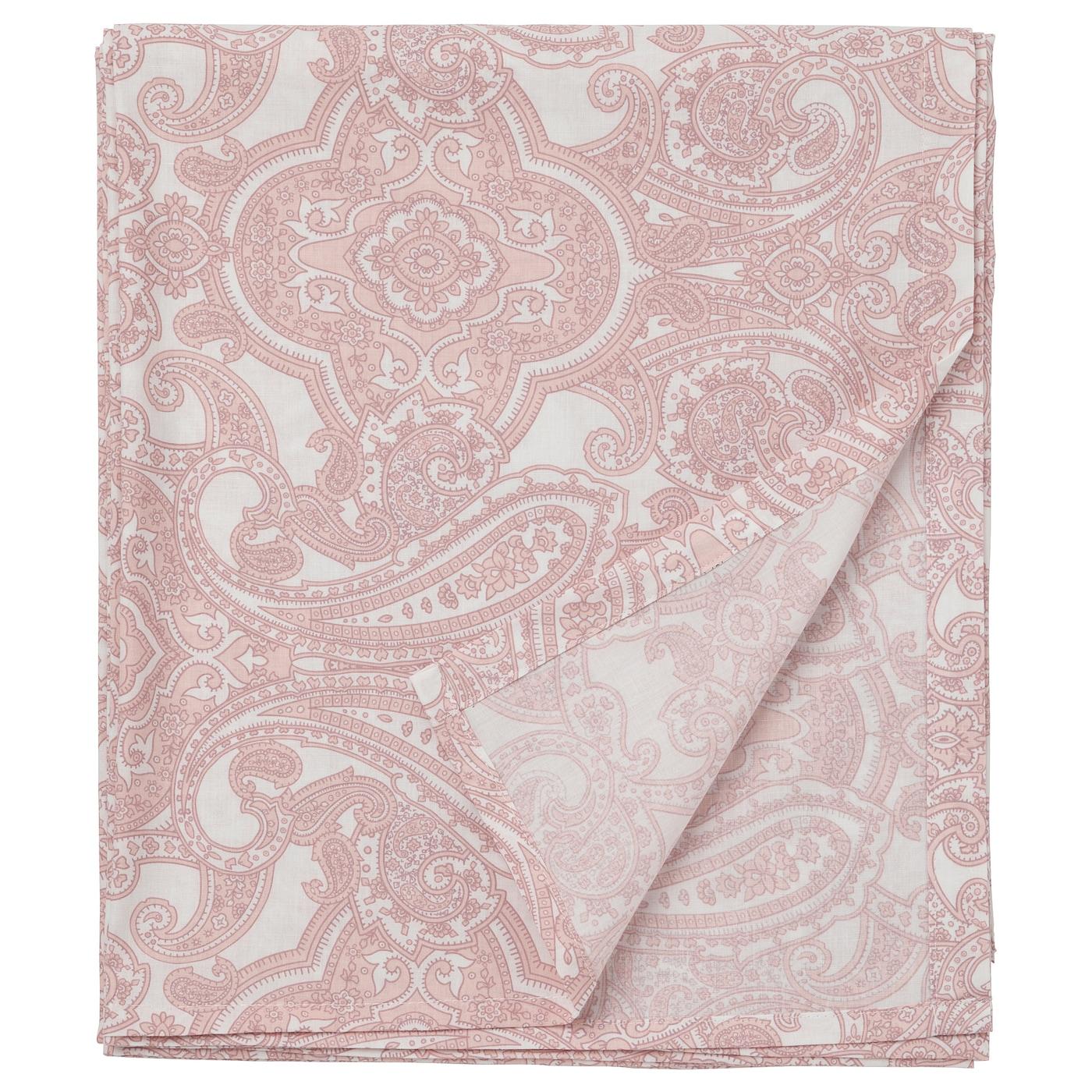 JÄTTEVALLMO Lençol branco, rosa 150x260 cm